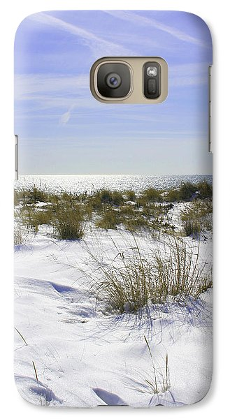 Galaxy Case featuring the photograph Snowy Dunes by Karen Silvestri