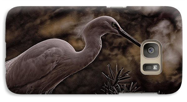 Galaxy Case featuring the photograph Snowy Egret 002 by Travis Burgess