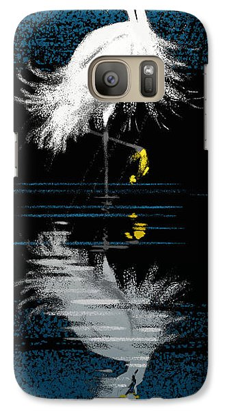 Galaxy Case featuring the digital art Snowy Egret by Aaron Blaise