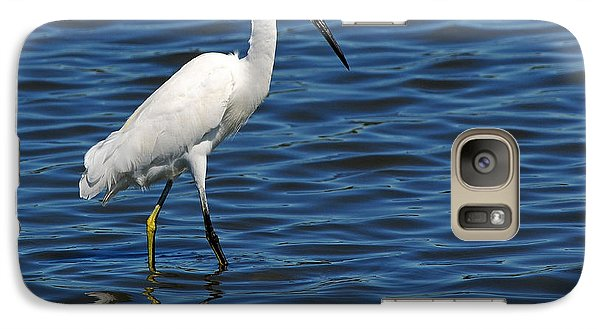 Galaxy Case featuring the photograph Snowy Egret Foraging by Olivia Hardwicke
