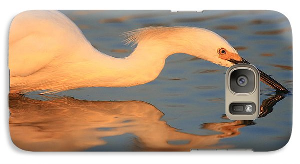 Galaxy Case featuring the photograph Snowy Egret Mirror by John F Tsumas