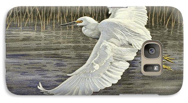 Egret Galaxy S7 Case - Snowy Egret by Paul Krapf