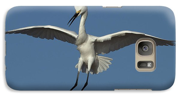 Galaxy Case featuring the photograph Snowy Egret Photo by Meg Rousher