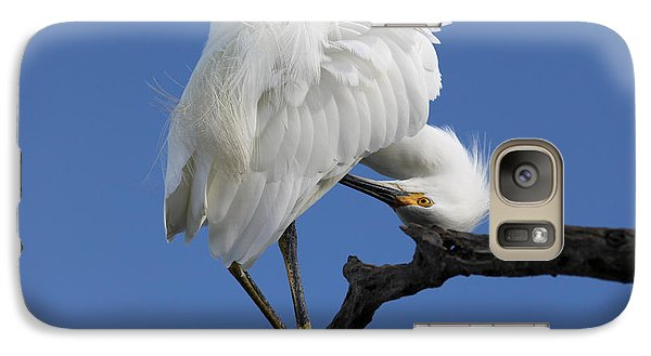 Galaxy Case featuring the photograph Snowy Egret Photograph by Meg Rousher