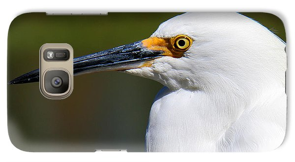 Galaxy Case featuring the photograph Snowy Egret Portrait by Bob and Jan Shriner