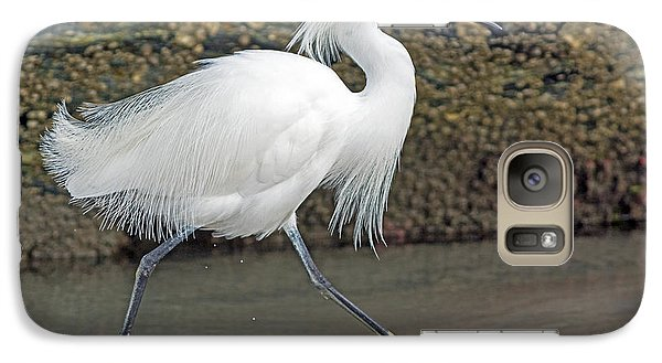 Galaxy Case featuring the photograph Snowy Egret Strutting by Stephen  Johnson