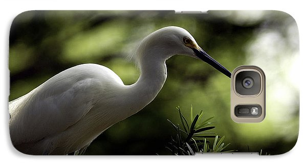 Galaxy Case featuring the photograph Snowy Egret by Travis Burgess
