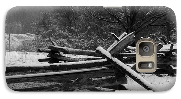 Galaxy Case featuring the photograph Snowy Fence by Michael Porchik