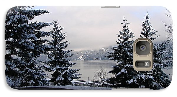 Galaxy Case featuring the photograph Snowy Gorge by Athena Mckinzie