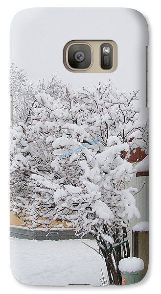 Galaxy Case featuring the photograph Snowy Lilac by Jewel Hengen