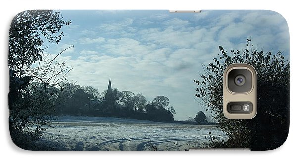 Galaxy Case featuring the photograph Snowy Morning by Jean Walker