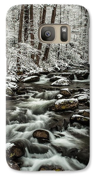 Galaxy Case featuring the photograph Snowy Mountain Stream by Debbie Green