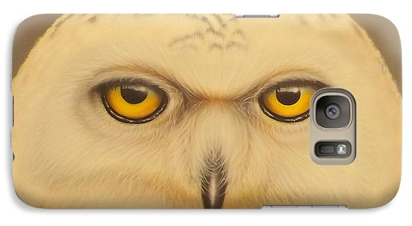 Galaxy Case featuring the painting Snowy Owl by Darren Robinson
