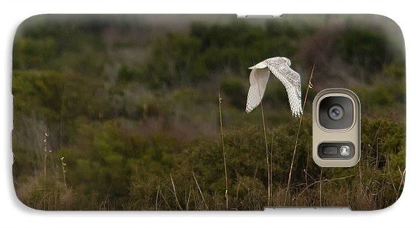 Galaxy Case featuring the photograph Snowy Owl Dune Flight by Paul Rebmann