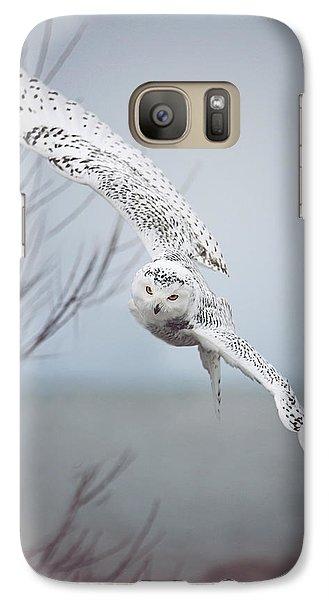 Snowy Owl In Flight Galaxy S7 Case