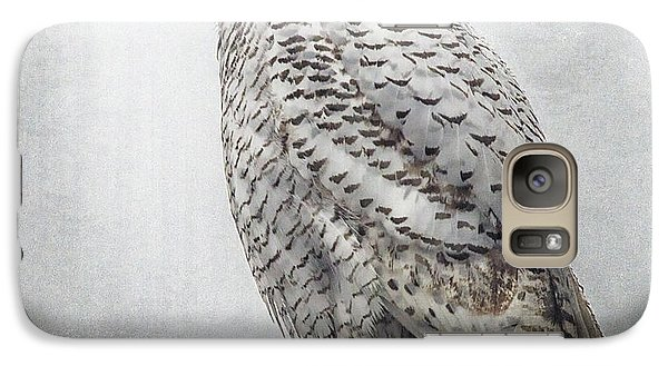 Galaxy Case featuring the photograph Snowy Owl In The Rain by Constantine Gregory
