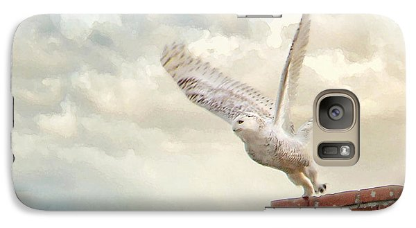 Galaxy Case featuring the photograph Snowy Owl by Karen Lynch