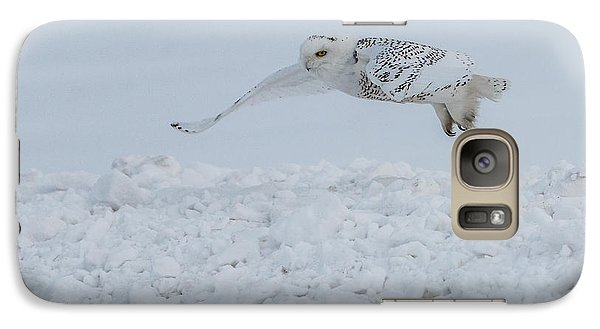 Galaxy Case featuring the photograph Snowy Owl #1/3 by Patti Deters