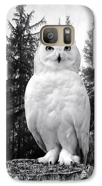Galaxy Case featuring the photograph Snowy  by Adam Olsen