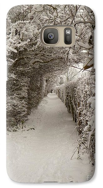 Galaxy Case featuring the photograph Snowy Path by Vicki Spindler