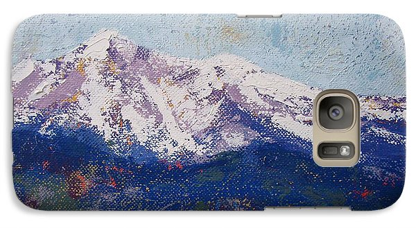 Galaxy Case featuring the painting Snowy Peaks by Margaret Bobb