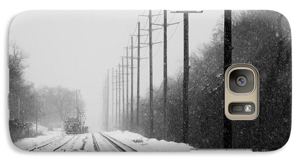 Galaxy Case featuring the photograph Snowy Rails by Steven Macanka