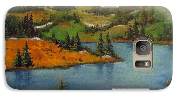 Galaxy Case featuring the painting Snowy Range by Carol Hart