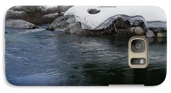 Galaxy Case featuring the photograph Snowy River Bend by Bobbee Rickard