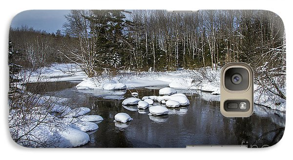 Galaxy Case featuring the photograph Snowy River by Nancy Dempsey