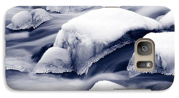 Galaxy Case featuring the photograph Snowy Rocks by Liz Leyden