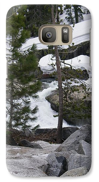 Galaxy Case featuring the photograph Snowy Sierras by Bobbee Rickard