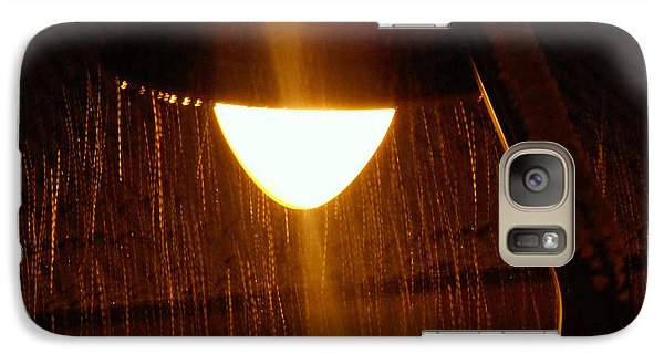 Galaxy Case featuring the photograph Snowy Street Lamp by Ramona Matei