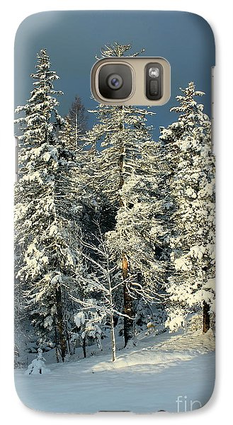 Galaxy Case featuring the painting Snowy Sunrise by Jesslyn Fraser