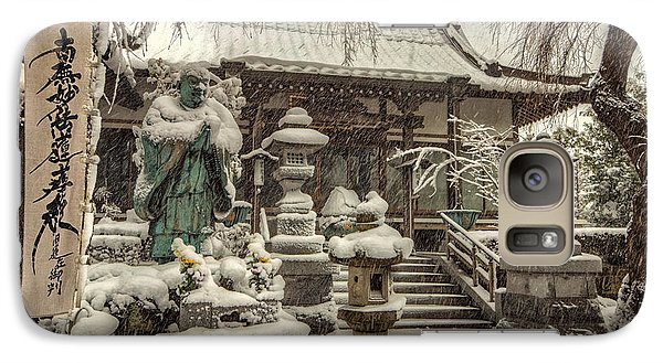 Galaxy Case featuring the photograph Snowy Temple by John Swartz