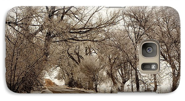 Galaxy Case featuring the photograph Snowy Trail by Shirley Heier