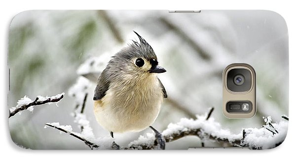 Snowy Tufted Titmouse Galaxy S7 Case