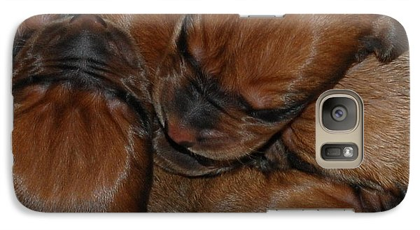 Galaxy Case featuring the photograph Snuggle by Mim White