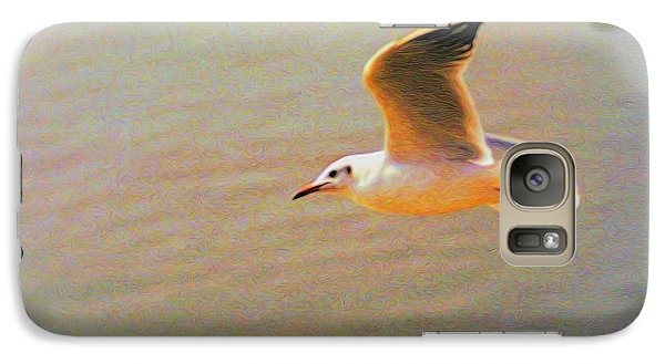 Galaxy Case featuring the photograph Soaring Gull by Dennis Lundell