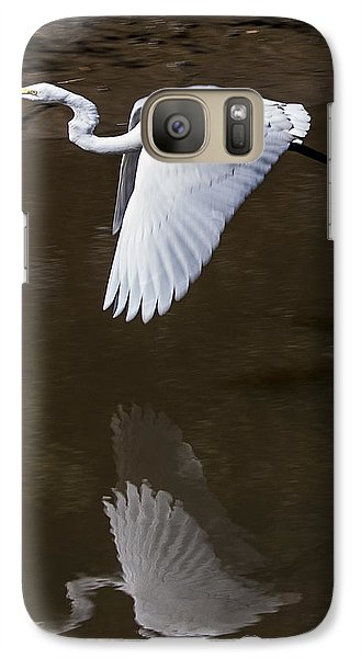 Galaxy Case featuring the photograph Soaring Reflection by Paula Porterfield-Izzo