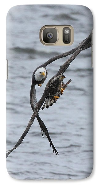 Galaxy Case featuring the photograph Soaring With Junior by Coby Cooper