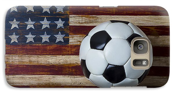 Soccer Ball And Stars And Stripes Galaxy S7 Case