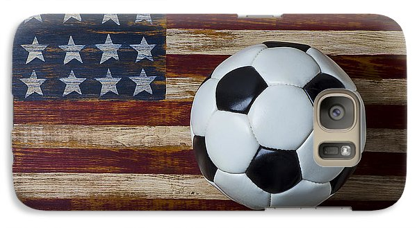 Soccer Ball And Stars And Stripes Galaxy Case by Garry Gay