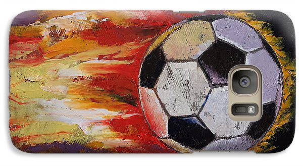 Soccer Galaxy Case by Michael Creese