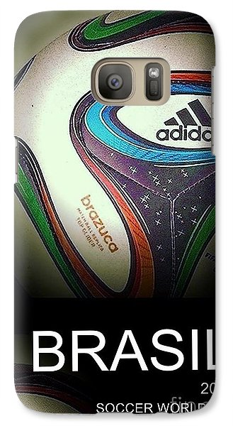 Galaxy Case featuring the digital art Soccer World Cup Poster 1 by Andrew Drozdowicz