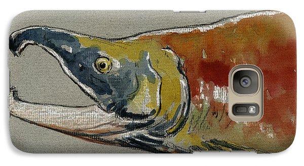 Sockeye Salmon Head Study Galaxy S7 Case by Juan  Bosco