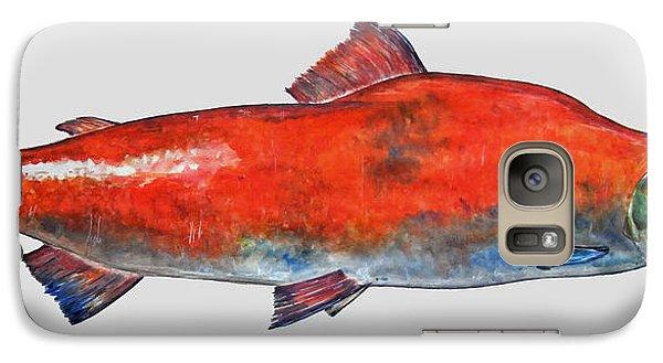 Salmon Galaxy S7 Case - Sockeye Salmon by Juan  Bosco