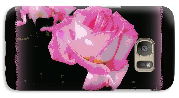 Galaxy Case featuring the photograph Soft And Delicate Pink Rose by Leanne Seymour