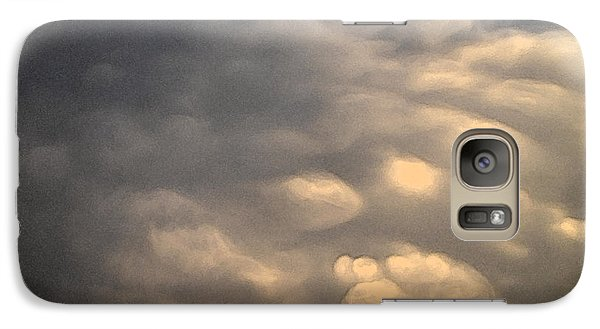 Galaxy Case featuring the photograph Soft Blue And Orange 2 Wc2  by Lyle Crump