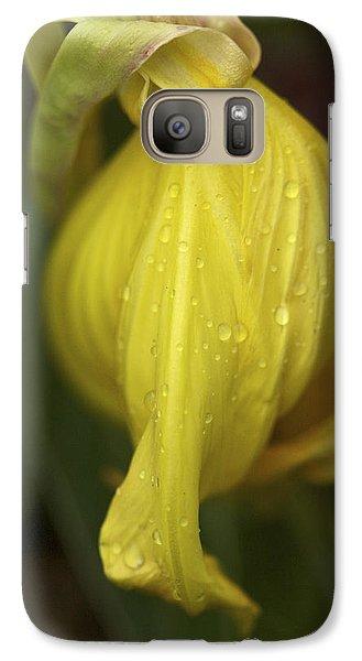Galaxy Case featuring the photograph Soft Evening Rain - Missouri Primrose Art Print by Jane Eleanor Nicholas