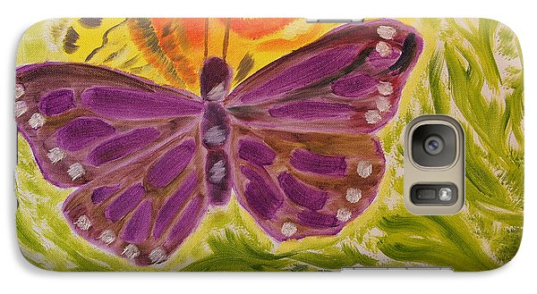 Galaxy Case featuring the painting Soft Flutters by Meryl Goudey